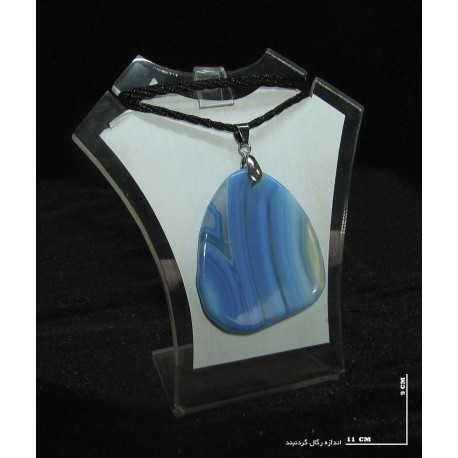 گردنبند عقیق آبی