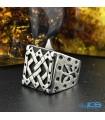 انگشتر نقره رکاب دست ساز مردانه silver ring