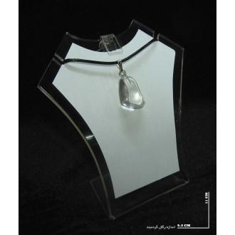 خواص سنگ کریستال کوارتز (راف گردنبندی)