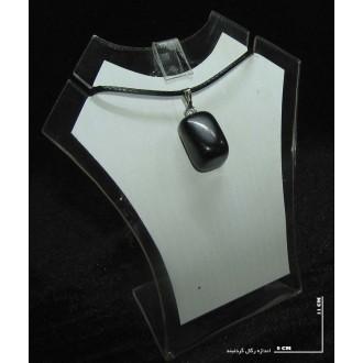 سنگ دلربا سرمه ایی (راف گردنبندی)