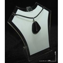 سنگ عقیق سیاه (راف گردنبندی)