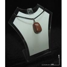 سنگ دلربا طلایی راف گردنبندی