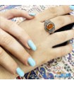 انگشتر عقیق یمنی نقره رکاب ماشینی silver ring Agate