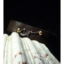 دستبند چرم طبیعی پلاک استیل سفارشی فقط فارسی