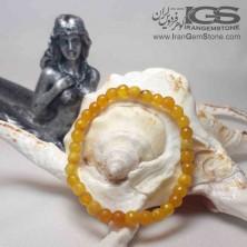 دستبند سنگ عقیق زرد شرف الشمس