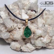آویز راف کریستال کوارتز سبز Crystal Quartz