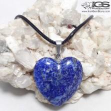 آویز طرح قلب سنگ لاجورد Lapis lazuli