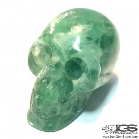 جمجمه دکوری سنگ فلوریت سبز فلئوریت Fluorite