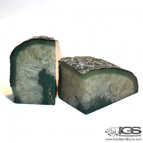 اسلایس عقیق سلیمان طبیعی سبز برزیل Agate