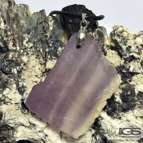 آویز سنگ فلوریت بنفش فلئوریت Fluorite