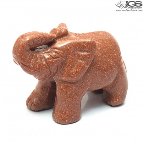 مجسمه فیل سنگ دلربا (گلدستون) Goldstone