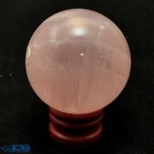 گوی درمانی سنگ رزکوارتز rose quartz
