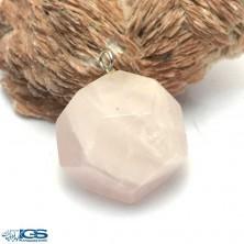 آویز سنگ رزکوارتز rose quartz