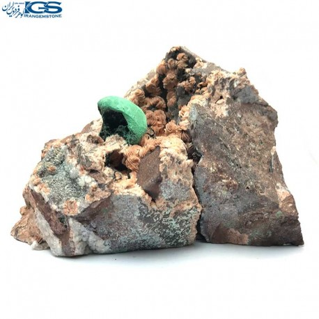 هم رشدی کلکسیونی سنگ باریت با سنگ مالاکیت