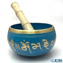 کاسه تبتی رنگ آبی برنجی Tibetan bowl