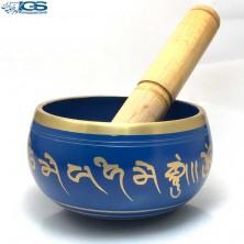 کاسه تبتی رنگ سرمه ایی برنجی Tibetan bowl