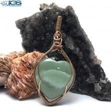 آویز بافت مس سنگ یشم (جید) مرمر سبز stone jade