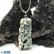 آویز گردنبند سنگ تورمالین سیاه راف Tourmaline
