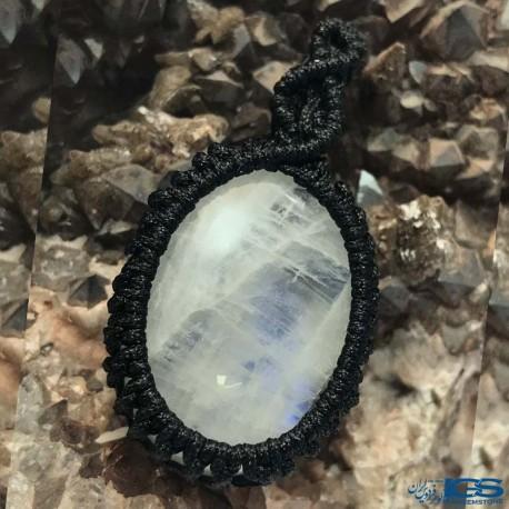 آویز بافت مون استون ( حجرالقمر یا سنگ ماه ) Moonstone