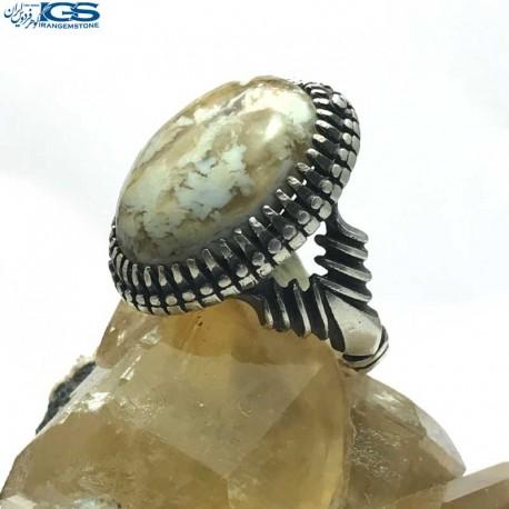 انگشتر نقره رکاب دست ساز سنگ عقیق Agate