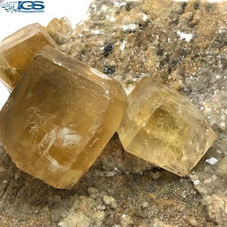 سنگ کلکسیونی فلوریت زرد فلئوریت yellow fluorite