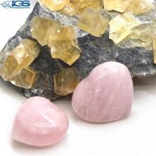 قلب درمانی سنگ رزکوارتز rose quartz