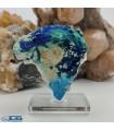 بلور کلکسیونی سنگ آزوریت ایران نماد نقشه آفریقا Azurite