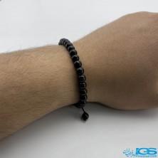 دستبند عقیق سیاه درمانی اونیکس onyx