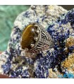 انگشتر نقره رکاب ترک سنگ چشم ببر ماداگاسکار Tiger Eye