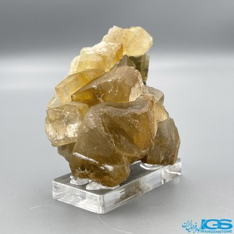 کم یاب ترین رنگ بلور سنگ کلکسیونی فلوریت زرد فلئوریت yellow fluorite