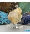 بلور سنگ کلکسیونی فلوریت زرد فلئوریت yellow fluorite