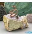 انگشتر سنگ فیروزه طبیعی نیشابور بافت مس طرح مار TURQUOISE
