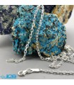 گردنبند زنجیر نقره مدل فلامینگو قلمدون تراش خورده 925 ترکیه