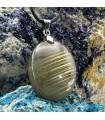 گردنبند سنگ لابرادوریت طلایی Labradorite