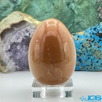 سنگ جید نارنجی تراش تخم مرغ ماساژ stone jade