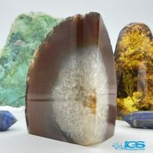 سنگ عقیق سلیمان دکوری کلکسیونی با هم روشدی کریستال کوارتز  Agate Soliman
