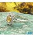 انگشتر نقره اوپال زنانه تراش اوال Opal
