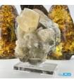 سنگ فلوریت زرد بلور کلکسیونی yellow fluorite