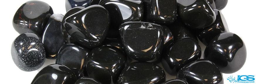منشور درمانی و دکوری سنگ عقیق سیاه اونیکس onyx