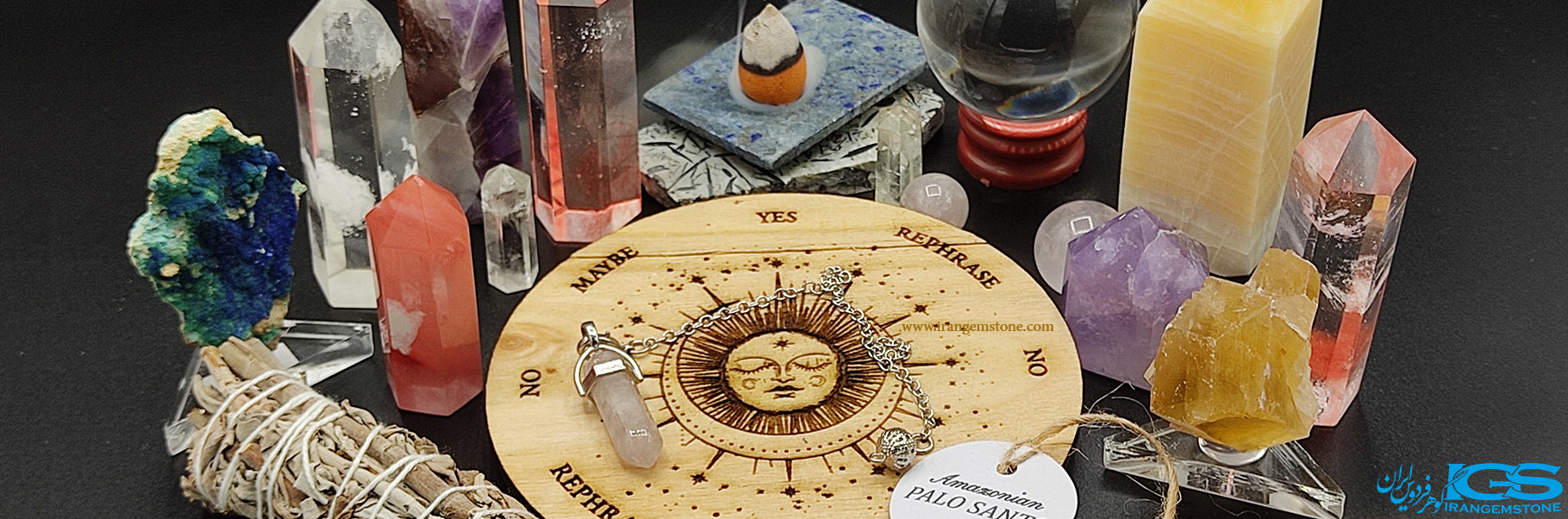 میز آونگ به همراه کریستال کوارتز Pendulum